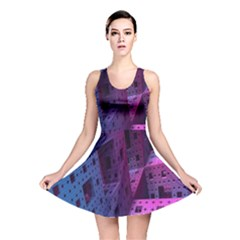 Fractals Geometry Graphic Reversible Skater Dress