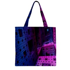 Fractals Geometry Graphic Zipper Grocery Tote Bag