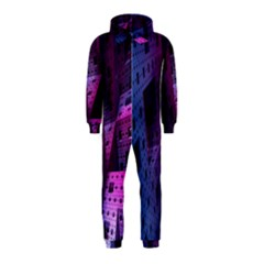 Fractals Geometry Graphic Hooded Jumpsuit (Kids)
