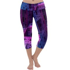 Fractals Geometry Graphic Capri Yoga Leggings