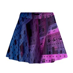 Fractals Geometry Graphic Mini Flare Skirt