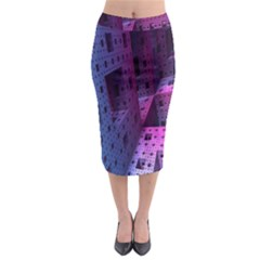 Fractals Geometry Graphic Midi Pencil Skirt