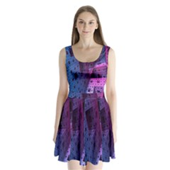 Fractals Geometry Graphic Split Back Mini Dress