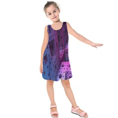 Fractals Geometry Graphic Kids  Sleeveless Dress