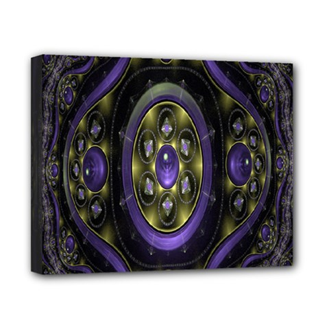 Fractal Sparkling Purple Abstract Canvas 10  X 8