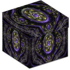 Fractal Sparkling Purple Abstract Storage Stool 12
