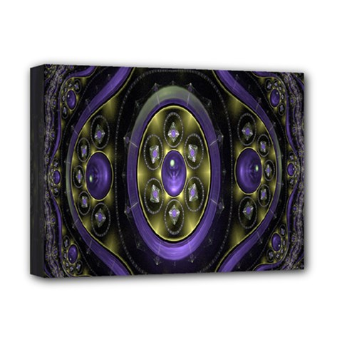 Fractal Sparkling Purple Abstract Deluxe Canvas 16  x 12