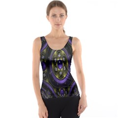 Fractal Sparkling Purple Abstract Tank Top