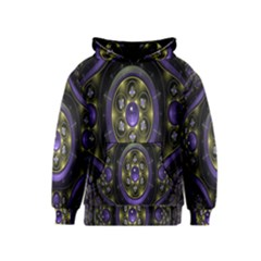 Fractal Sparkling Purple Abstract Kids  Pullover Hoodie