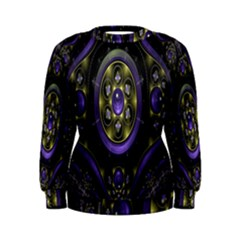 Fractal Sparkling Purple Abstract Women s Sweatshirt