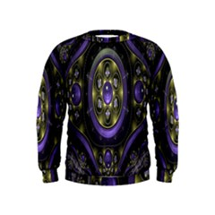 Fractal Sparkling Purple Abstract Kids  Sweatshirt