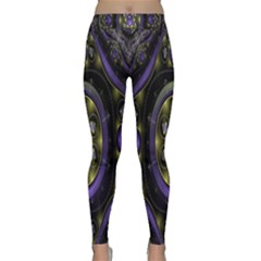 Fractal Sparkling Purple Abstract Classic Yoga Leggings
