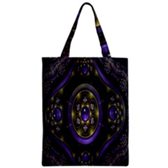 Fractal Sparkling Purple Abstract Zipper Classic Tote Bag
