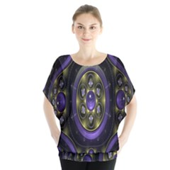 Fractal Sparkling Purple Abstract Blouse