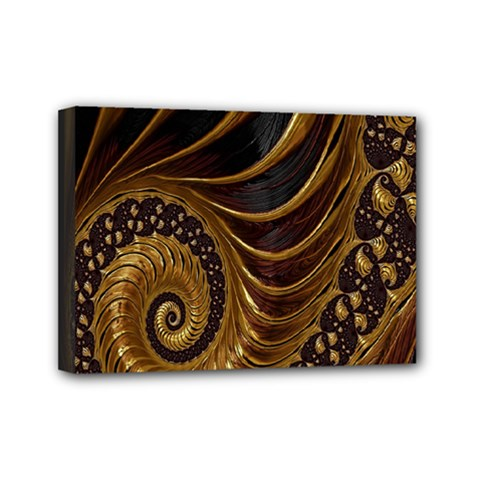 Fractal Spiral Endless Mathematics Mini Canvas 7  x 5