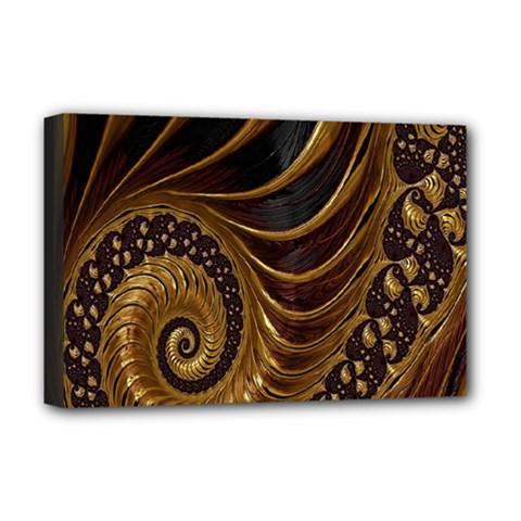 Fractal Spiral Endless Mathematics Deluxe Canvas 18  x 12
