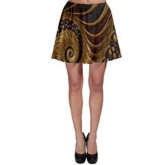 Fractal Spiral Endless Mathematics Skater Skirt