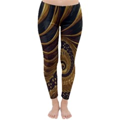 Fractal Spiral Endless Mathematics Classic Winter Leggings