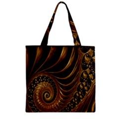 Fractal Spiral Endless Mathematics Zipper Grocery Tote Bag