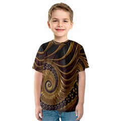 Fractal Spiral Endless Mathematics Kids  Sport Mesh Tee