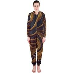 Fractal Spiral Endless Mathematics Hooded Jumpsuit (Ladies)