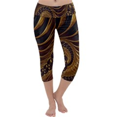 Fractal Spiral Endless Mathematics Capri Yoga Leggings