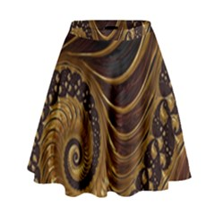 Fractal Spiral Endless Mathematics High Waist Skirt