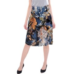 Frost Leaves Winter Park Morning Midi Beach Skirt