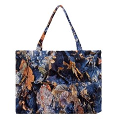 Frost Leaves Winter Park Morning Medium Tote Bag