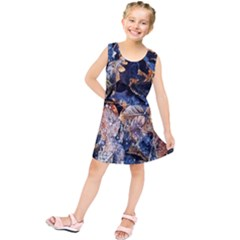 Frost Leaves Winter Park Morning Kids  Tunic Dress