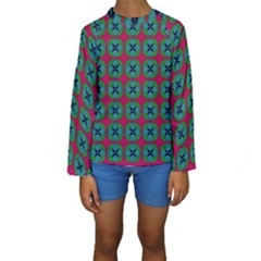 Geometric Patterns Kids  Long Sleeve Swimwear