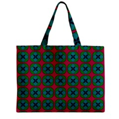 Geometric Patterns Zipper Mini Tote Bag