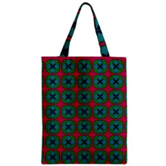 Geometric Patterns Zipper Classic Tote Bag