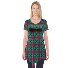Geometric Patterns Short Sleeve Tunic