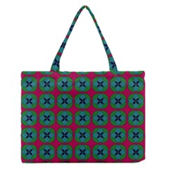 Geometric Patterns Medium Zipper Tote Bag