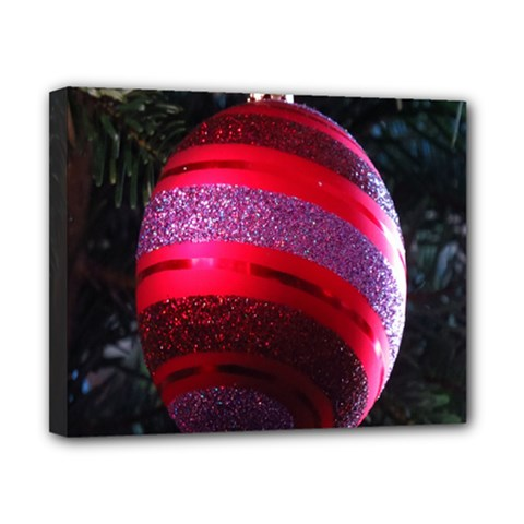 Glass Ball Decorated Beautiful Red Canvas 10  x 8