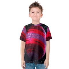 Glass Ball Decorated Beautiful Red Kids  Cotton Tee
