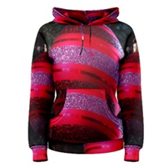 Glass Ball Decorated Beautiful Red Women s Pullover Hoodie