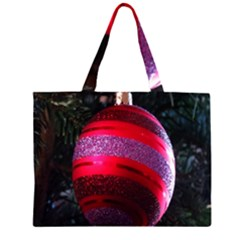 Glass Ball Decorated Beautiful Red Large Tote Bag