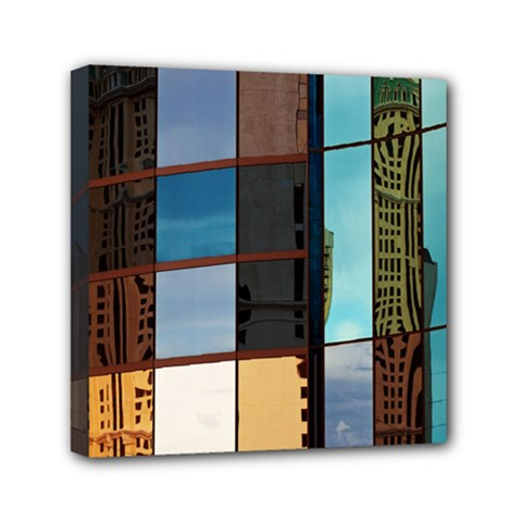 Glass Facade Colorful Architecture Mini Canvas 6  x 6