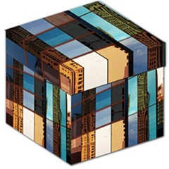 Glass Facade Colorful Architecture Storage Stool 12