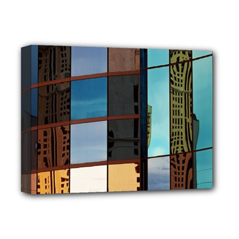 Glass Facade Colorful Architecture Deluxe Canvas 16  x 12