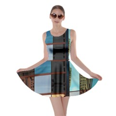 Glass Facade Colorful Architecture Skater Dress