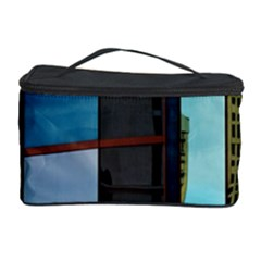 Glass Facade Colorful Architecture Cosmetic Storage Case