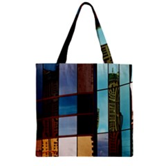 Glass Facade Colorful Architecture Zipper Grocery Tote Bag