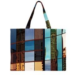 Glass Facade Colorful Architecture Zipper Large Tote Bag