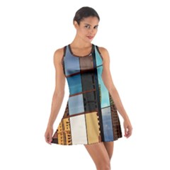 Glass Facade Colorful Architecture Cotton Racerback Dress