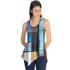 Glass Facade Colorful Architecture Sleeveless Tunic