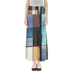 Glass Facade Colorful Architecture Maxi Skirts