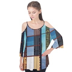 Glass Facade Colorful Architecture Flutter Tees
